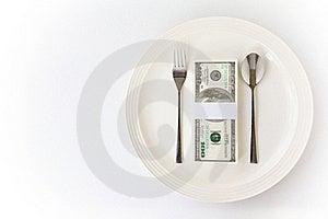 Dollar On Dish Stock Images - Image: 19970254