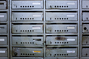 Old Mailboxes Stock Image - Image: 19971211