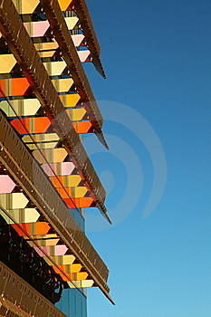 Office Building With Colorful AwningS Stock Photography - Image: 19972642