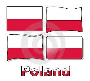 Set Poland Flag Stock Photos - Image: 19974013