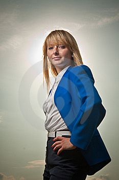 Blond Woman Lited By The Sun Royalty Free Stock Photos - Image: 19974718