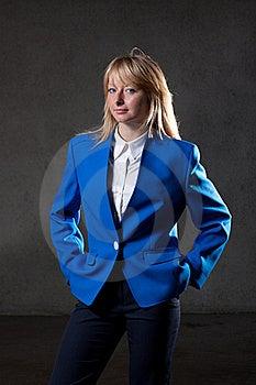 Elegant Blond On Black Background Stock Photos - Image: 19974793