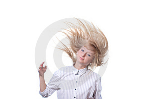 Golden Hair On White Seamless Stock Photography - Image: 19974932
