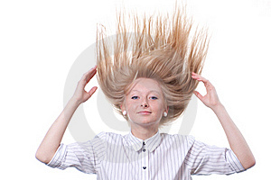 Spiky Blond Hair Woman Royalty Free Stock Photos - Image: 19974948