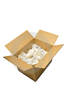 Box With Packing Paper Stock Photo - Image: 19977280