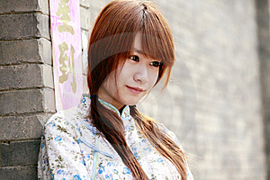 Chinese Girl Portrait. Royalty Free Stock Photos - Image: 19977698