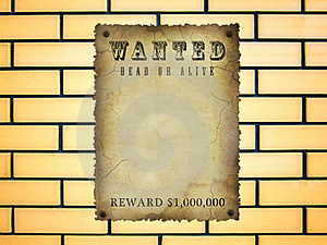 Wanted Royalty Free Stock Photo - Image: 19979435