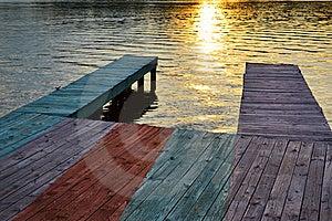 Boat Dock At Sunset Royalty Free Stock Photo - Image: 19979965