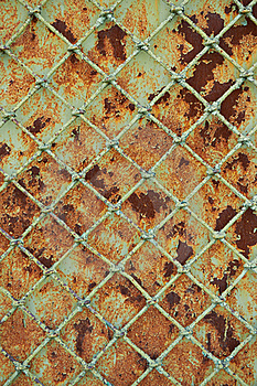 Old Rusty Metal Grill Fence Royalty Free Stock Images - Image: 19980099