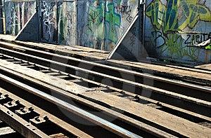 Rails And Graffiti Stock Photography - Image: 19980392