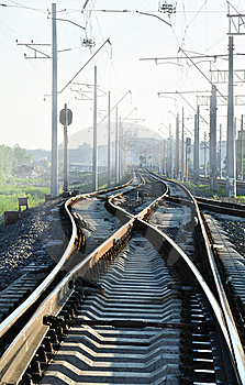 Rails And Smog Royalty Free Stock Images - Image: 19980419
