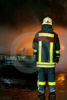 Instructor For Firefighting Royalty Free Stock Photos - Image: 19980888