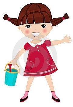 Little Playful Girl Stock Photos - Image: 19981163