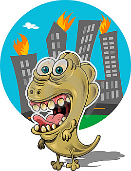 Rampaging Creature Royalty Free Stock Photography - Image: 19984177
