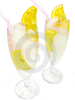 Alcoholic Cocktail Drinks With Lemon Stock Photography - Image: 19985982