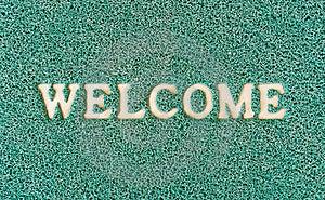 Green Door Mat Stock Photos - Image: 19986013