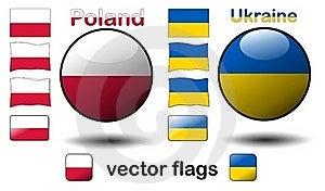 Flags, Poland - Ukraine Royalty Free Stock Image - Image: 19988206