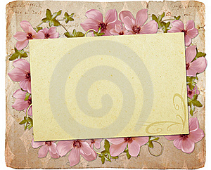 Greeting Card With Flowers Royalty Free Stock Photo - Image: 19990455