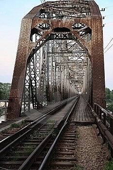 Railway Bridge On The River Royalty Free Stock Image - Image: 19991526