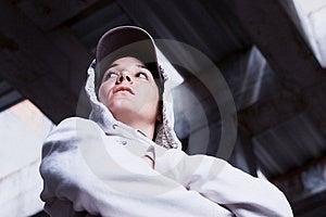 Kühles Mädchen Mit Schutzkappe. Stockbild - Bild: 19995451