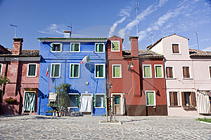 Houses In Burano Island Royalty Free Stock Photography - Image: 19995487