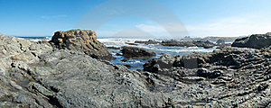 Glass Beach Panorama Stock Images - Image: 19995954