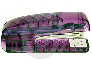 Translucent Purple Stapler Royalty Free Stock Images - Image: 20179