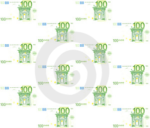 100 Euros Royalty Free Stock Photos