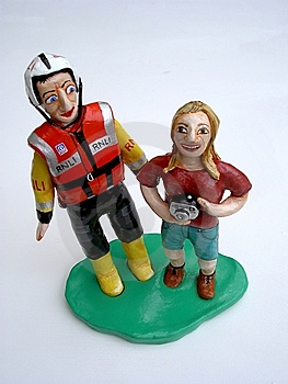 Clay Model Couple Stock Photos - Image: 21343