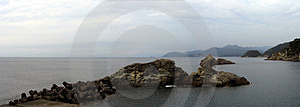 Costa de Izu - panorama Fotografia de Stock Royalty Free