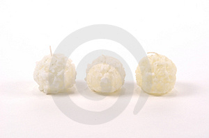 Snow Ball Candles Free Stock Photography