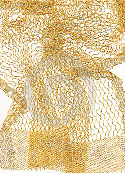 Abstract, Gold Scarf Royalty Free Stock Images - Image: 24079