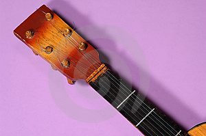 Ukulele Handle Stock Photo