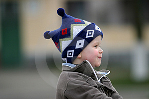 Waiting Boy Royalty Free Stock Images