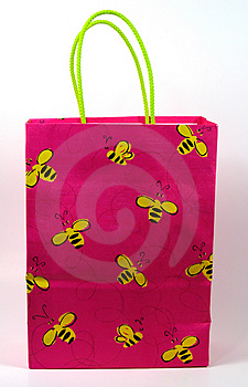 Hand Painted Gift Bag Royalty Free Stock Image - Image: 25616