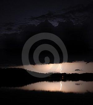 Tempestade 2 da noite Fotos de Stock Royalty Free