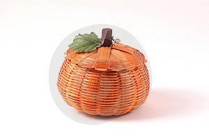 Wicker Pumpkin Stock Photos - Image: 27863