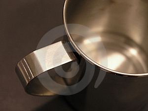 Metal Coffee Cup stock photo. Image of silvery, machined - 29636