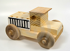 Wooden Truck Stock Photo