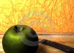 Green Apple Free Stock Photography
