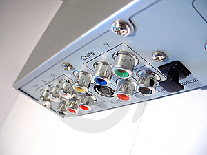 Dvd Divx Player Back Stock Images