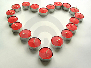 Tealight Heart Free Stock Images