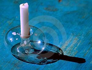 Ett stearinljus Royaltyfri Bild