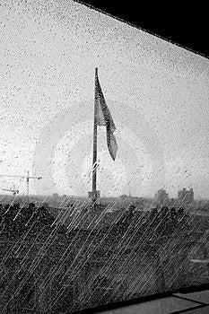Reichstag an einem regnerischen Tag Stockfoto