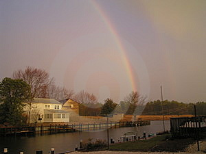 Rainbow At Stouts Creek Free Stock Images