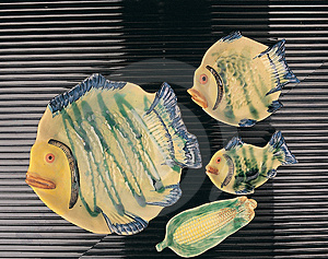 Fish Plates Royalty Free Stock Photo