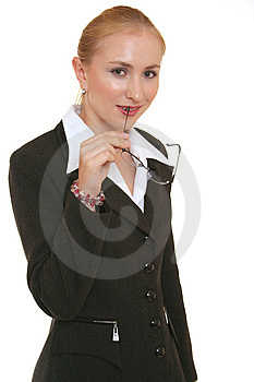 Lady thinking Royalty Free Stock Images