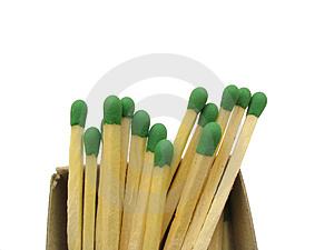 Matches Stack - Isolated Stock Photo