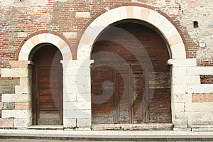 Old Doors in Venice Royalty Free Stock Photos