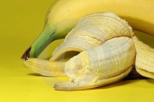 Banana Bite Free Stock Photo